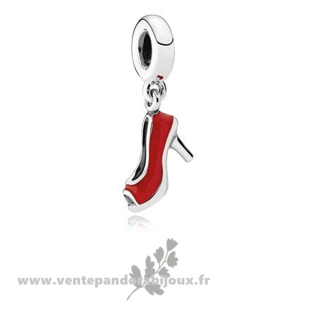 Bon Marché Pandora Pandora Passions Charms Chic Breloque Glamour Red Stiletto Red Enamel