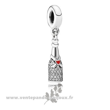 Bon Marché Pandora Pandora Passions Charms Chic Charme Celebration Time Dangle Red Enamel Clear Cz