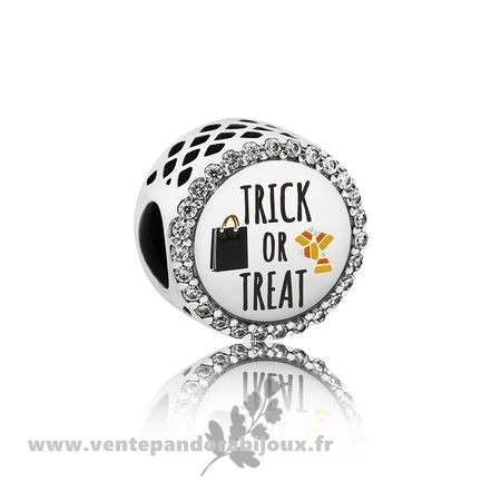 Bon Marché Pandora Pandora Vacances Charms Halloween Trick Or Treat Charm Mixed Email Clear Cz