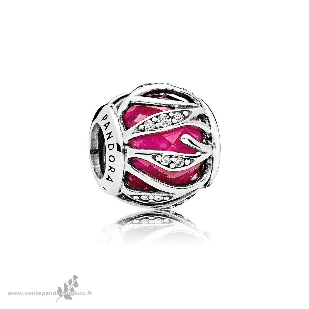 Bon Marché Pandora Nature Charms Nature'S Radiance Synthetique Ruby Clear Cz