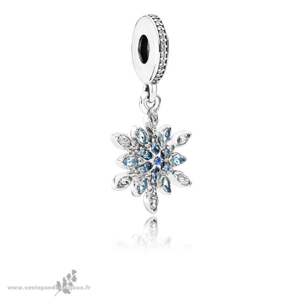 Bon Marché Pandora Pandora Nature Charms Crystalized Snowflake Dangle Charm Blue Crystals Clear Cz