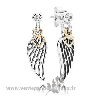 Bon Marché Pandora Boucles D'Oreilles Amour Guidance Drop Clear Cz